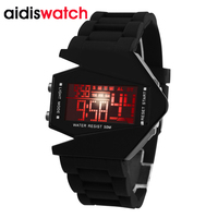 Hot Sale Aidis Brand Aircraft Shape Children LED Digital Watch 3ATM Repeater Alarm Colorful LCD Boy Girl Kids Sport Wristwatch