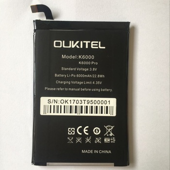 Oukitel K6000 Battery 6000mAh New Replacement accessory accumulators For Oukitel K6000 PRO Cell Phone image