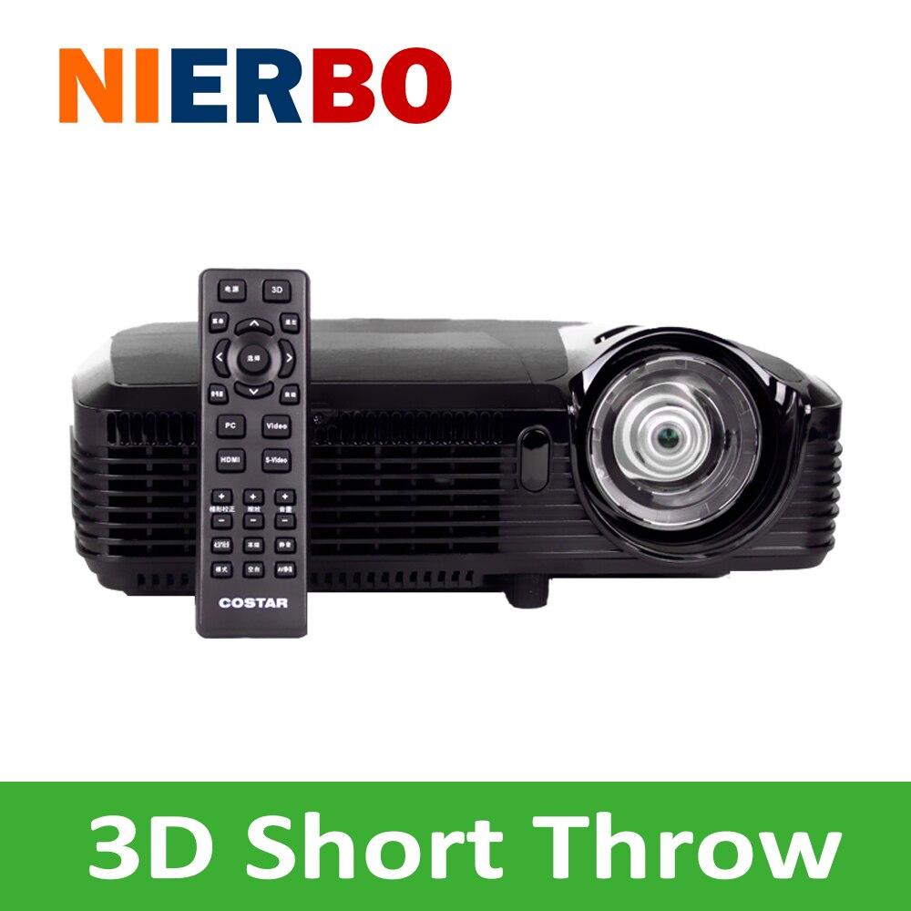 Proyección inalámbrica Wifi Luz de tiro Corto 7500 lúmenes HDMI USB Proyector DL