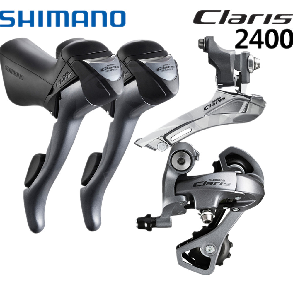 Shimano Claris 2400 Groupset 2x8 Speed Road Bike STI Shifter Derailleur Mini Set Front Derailleur Rear