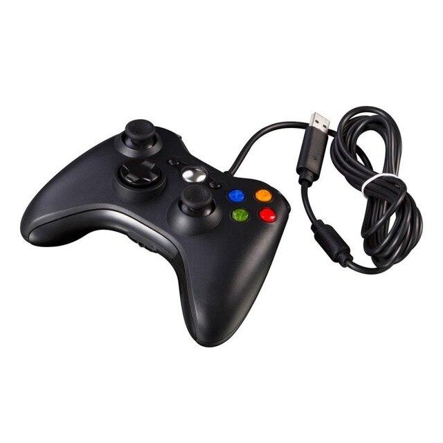 Высокое качество игры геймпады для Xbox 360 джойстик USB проводной Joypad контроллер для игровых приставок официальный microsoft ПК оконные рамы
