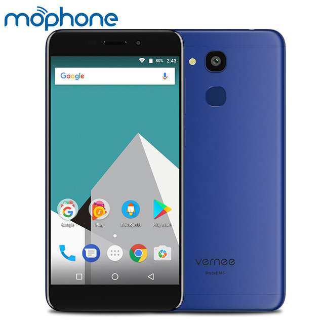 Original Vernee M5 4G Smartphone Android 7.0 MTK6750 Octa Core 4GB RAM 32GB ROM 13.0MP+8.0MP Camera 5.2inch 3300mAh Mobile Phone