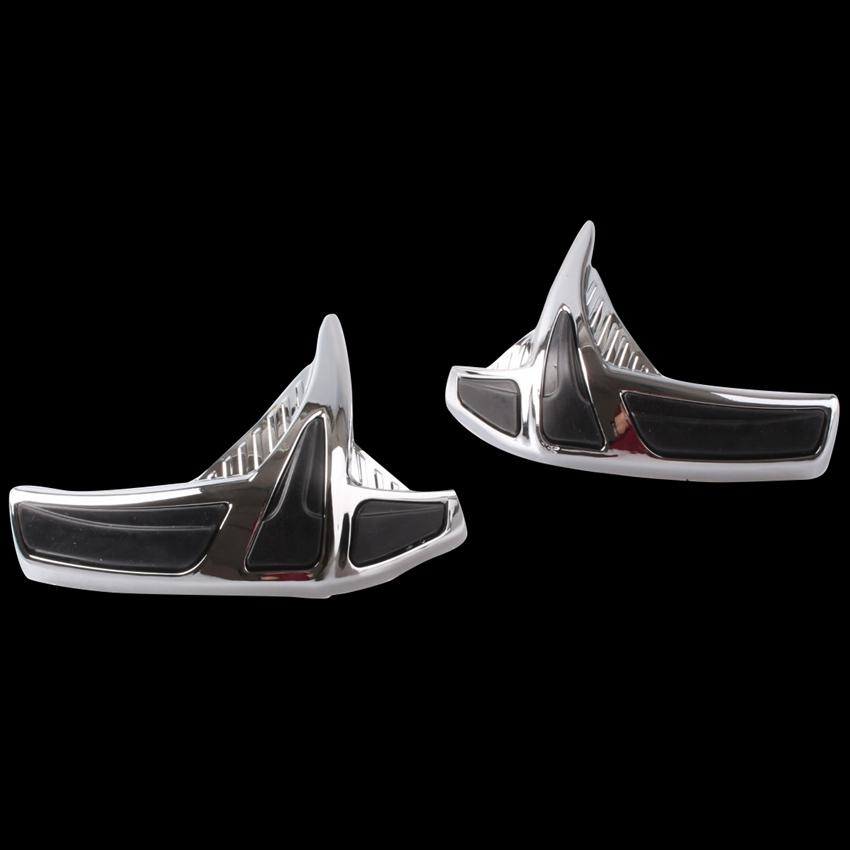 Fairing Saddlebag Front Scuff Protectors For Honda Goldwing GL1800 2001-2011 2PCS ABS Chrome Motorcycle AccessoriesFairing Saddlebag Front Scuff Protectors For Honda Goldwing GL1800 2001-2011 2PCS ABS Chrome Motorcycle Accessories