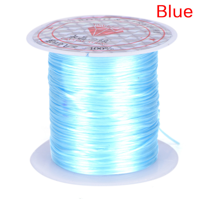 Roll 0.8mm Firm Elastic Stretch Beading String Cord Wire Jewelry Making as#21
