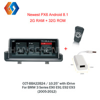 Новые Автомагнитола Android 8,1 мультимедиа для BMW 3 серии E90 E91 E92 E93 2005 2012 поставка с iDrive контроллер кольцо LHD 24
