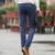 2016 de la alta Qulity hombres de moda del algodón chándal de hombre Casual estilo delgado pies pantalones hombres de ropa de color caqui negro pantalones pantalones