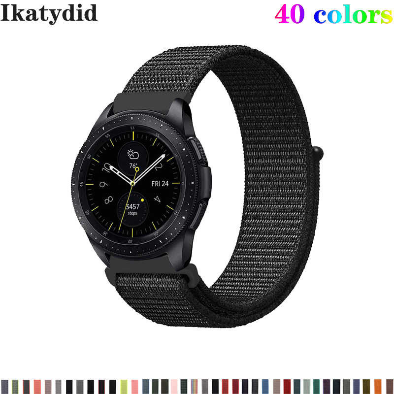22/20mm band for samsung galaxy watch 46mm active gear S3 frontier huawei gt 2 amazfit bip strap Woven Nylon bracelet