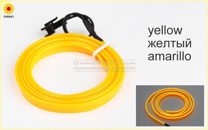 Auto Car Interior LED EL Wire Rope Tube Line flexible neon light ...
