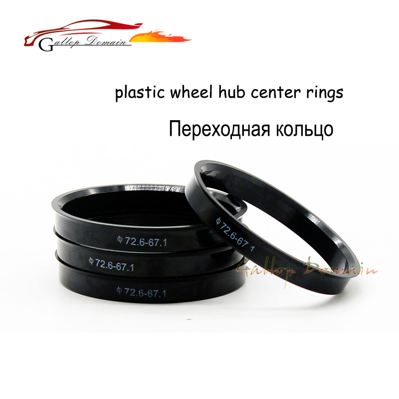 4pieces/lots 63.4 to 56.6 mm Hub Centric Rings OD=63.4mm ID=56.6mm PE Rigid Plastics Wheel Hub Rings Free Shipping Car-Styling