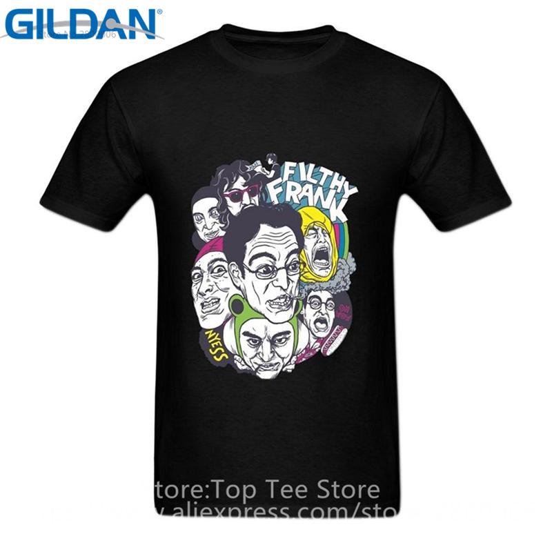 Tailored Shirts Company T Shirts Short Sleeve Men Printed Filthy Frank Head Sleevery Crew Neck Tee