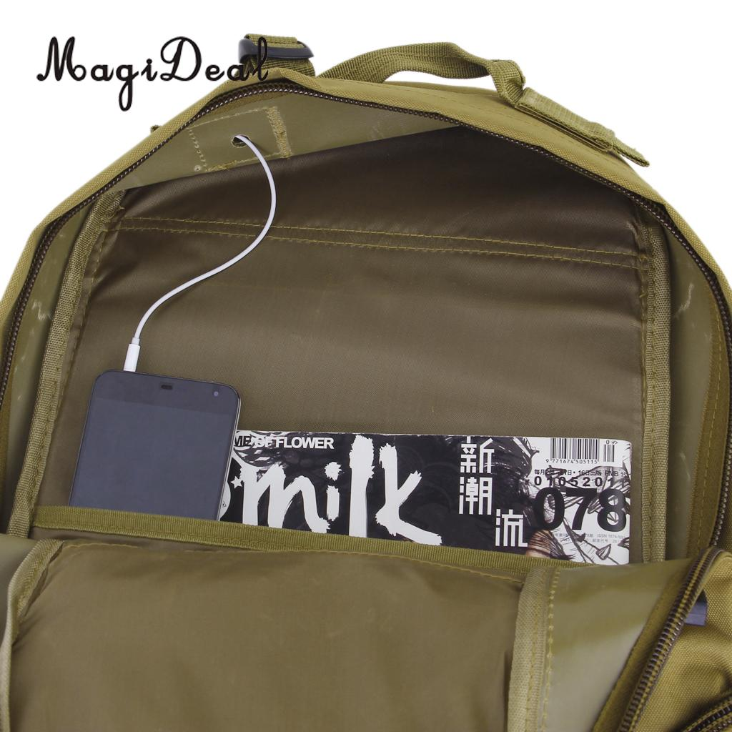 MagiDeal 35L Outdoor Military Travel Rucksack Backpack Camping Trekking Mountain Sports Bag for Kayak Boating Rafting Access