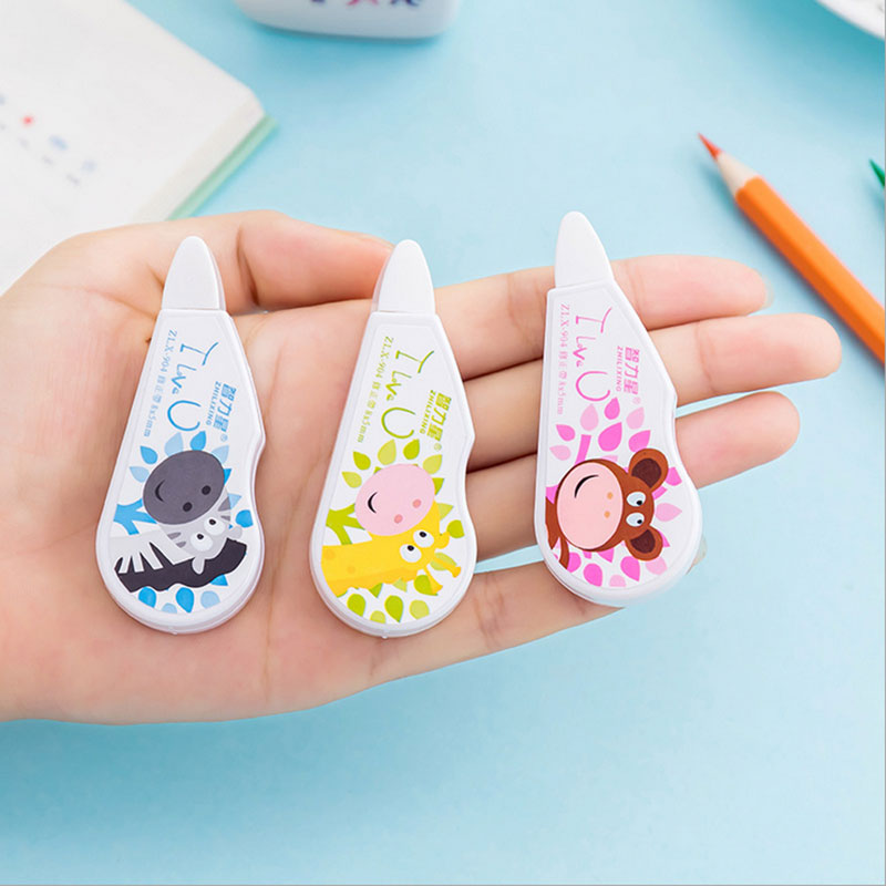 1 X Creative Cartoon Animal Correction Tape Kawaii School Supplies Office Supplies Shuttle Fish Students Stationery