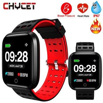 スマートフィットネスブレスレット腕時計水泳防水血圧歩数計フィットネストラッカー GPS 時計メンズ · レディーススポーツトラッカー