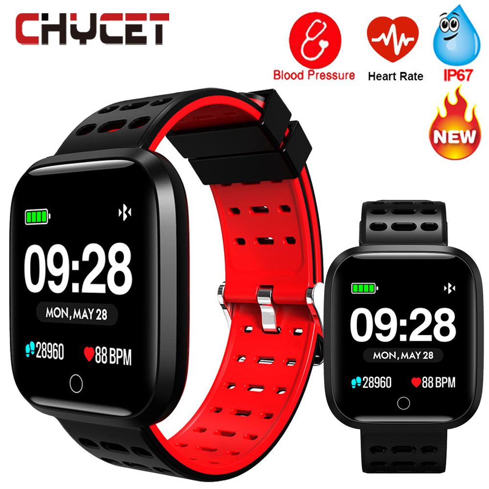 Smart Fitness Bracelet Watch Swimming Waterproof Blood Pressure Pedometer Fitness Tracker GPS Watch Men Women Sports Tracker image