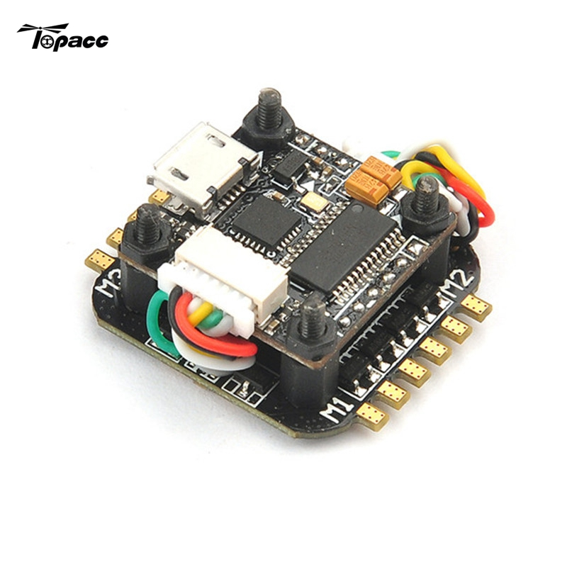 Super_S F4 2S Flight Controller Built-in Betaflight OSD + Super_S BS06D 4in1 Blheli_S 6A ESC For RC Racing Drone Quadcopter Toys matek f405 with osd betaflight stm32f405 flight control board osd for fpv racing drone quadcopter