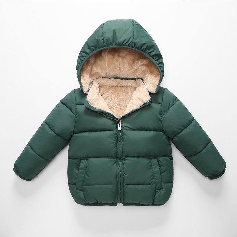 COOTELILI Fleece Winter Parkas Kids Jackets For Girls Boys Warm Thick Velvet Children's Coat Baby Outerwear Infant Overcoat (6)