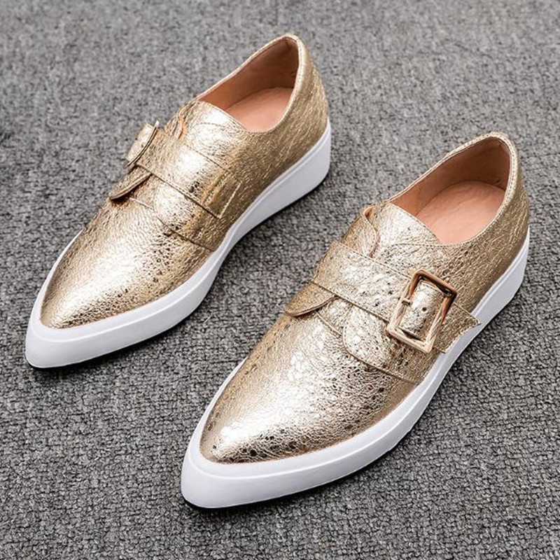 2018 spring and autumn new flat-bottomed pointed thick-soled fashion shoes White, gold Flats Women Shoes Loafers obuv new fashion high quality vintage women flat shoes women flats and women s spring summer autumn shoes pointed single shoes