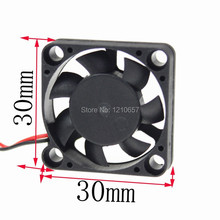 10PCS LOT Mini Gdstime 3007S 30MM 30 x 30 x 7mm 2Pin 12V DC Air Cooling Cooler Fan