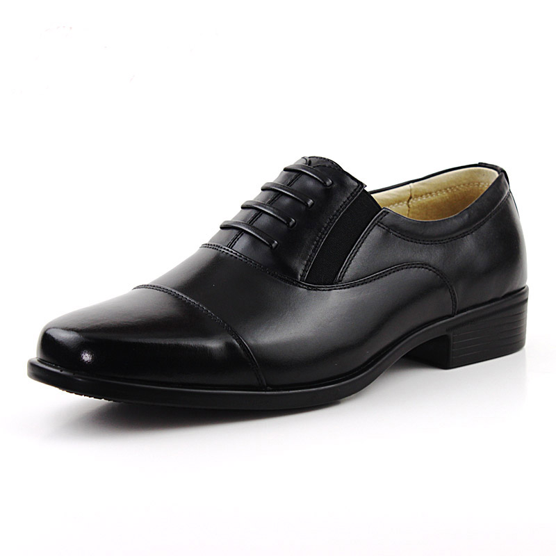 Mens Dress Shoes Black Suit Genuine Leather Flats Formal Comfortable Office Men 2016 Round Toe Designer High Quality In From
