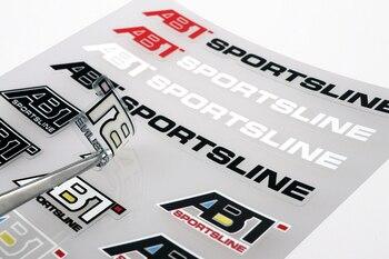 Aliauto estilo de coche ABT Sportsline accesorios etiqueta y etiqueta para Ford Focous Volkswagen Polo Volkswagen Golf Renault Opel Bmw E39 Audi