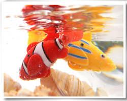 Электрическая вспышка плавающая рыба волшебная музыка с легкой машиной sensation fish swim pet Клоун Рыба