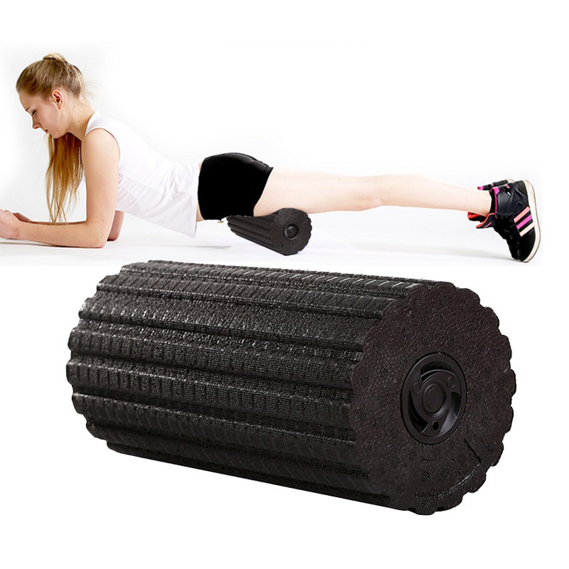 Yoga Block Column Electric Vibration Massage Adjustable Massager Relieve Muscle Fatigue Yoga Foam Roller Pilates Block Fitness