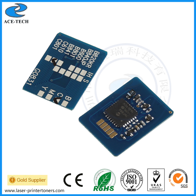 Compatible for OKI C610dn (c610 610dn 610) laser toner reset cartridge printer chip chipset 44315305~44315308 EU