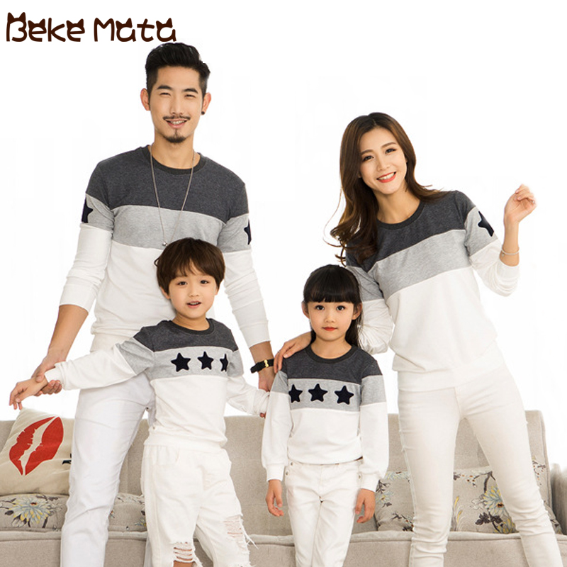 Family Matching Clothes Autumn 2019 Family Look Mother Daughter Father Son Sweatshirt Long Sleeve Family Matching Tshirts Outfit