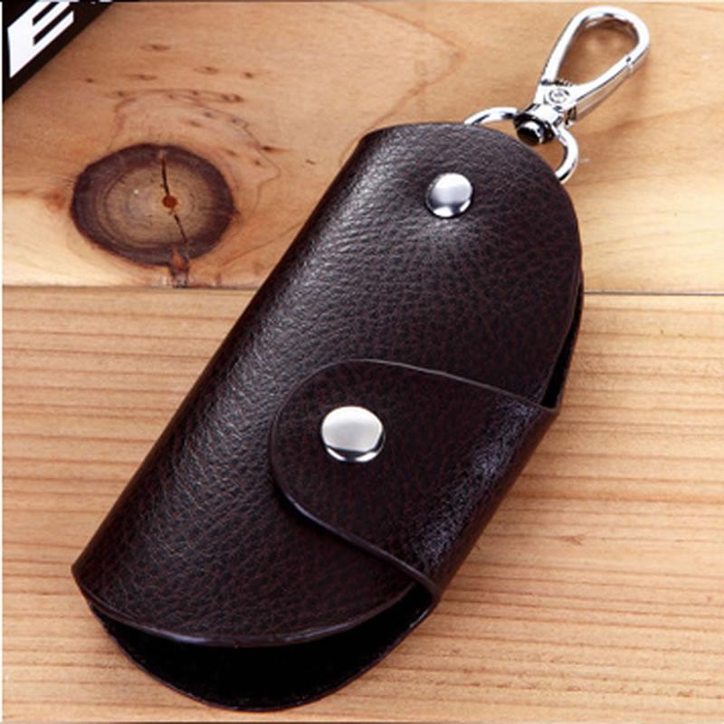 New Arrive 1Pc Fashion Men Women Leather Key Chain Accessory Pouch Bag Wallet Case Key Holder