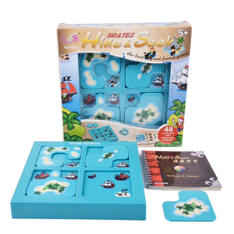 Hide Seek Puzzle Board Game 48 Levels Family/Party Parents with Children Funny Problem Solving Game hide and seek
