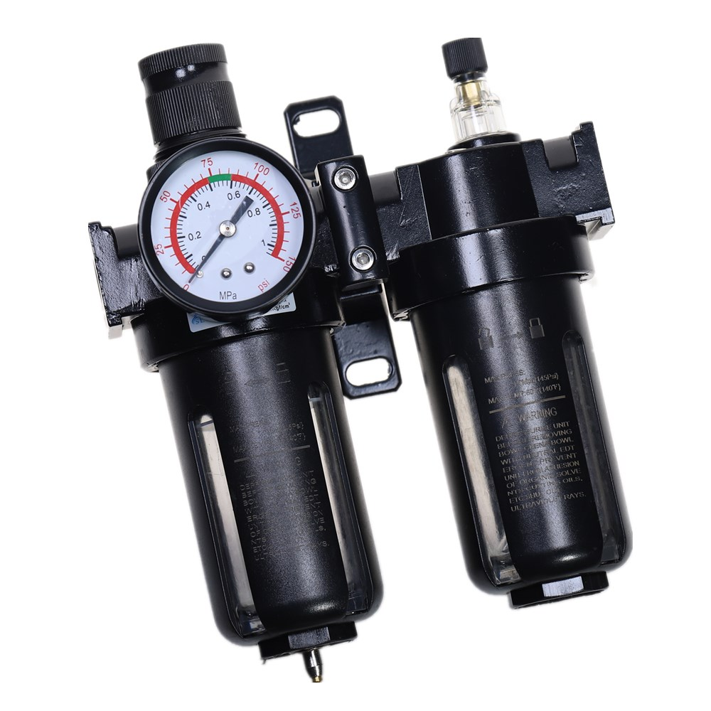1//4 fittings Air filter regulator oil lubricator for air compressor 1//2