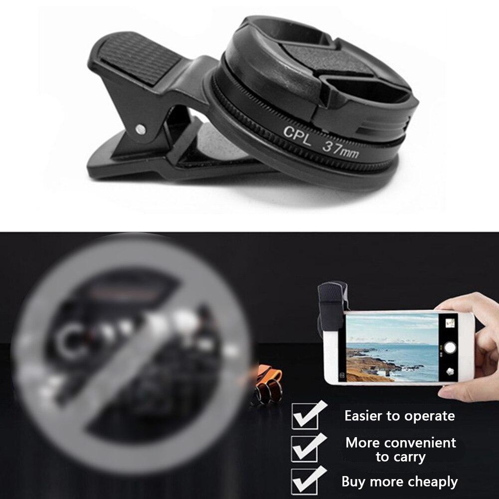 37 мм круговой поляризатор с зажимом CPL фильтр камера универсальный широкоугольный черный аксессуары для телефона портативный профессионал...