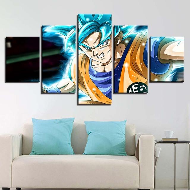 Dragon Ball Z Paintings Wall Art Prints Framework