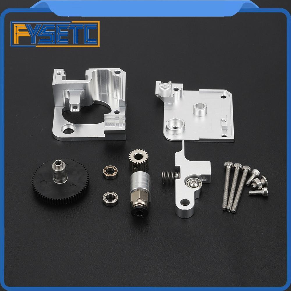 Extrudeuse 1.75mm argent tout métal Titan Aero pour imprimante 3D Prusa i3 MK2 pour entraînement Direct et support de montage Bowden