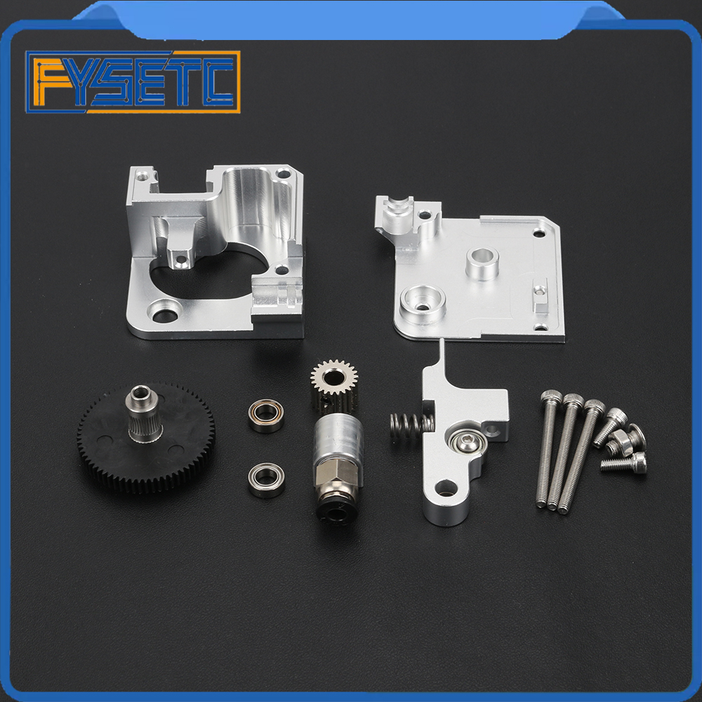 Silver All Metal Titan Aero Extruder 1.75mm For Prusa i3 MK2 3D Printer For Both Direct Drive And Bowden Mounting Bracket