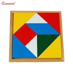 Giocattoli Per Bambini Montessori Geometrica Di Puzzle Jigsaw Consiglio Regalo Del Bambino di Legno Educativi di Legno Matematica Giocattoli Giochi Di Puzzle MA029-3