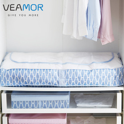 VEAMOR 1pc Underbed Quilt Clothes Storage Bag Space Saver Organizer Clothing Bedding Storage Bag Home Storage Bags WB1588