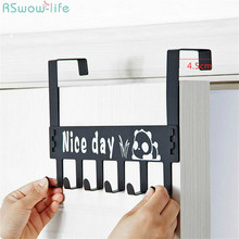 цена на Creative Cartoon Nail-free Seamless Door Hook Hook Coat Hook Wall Hanging Door Hanger For Household Products