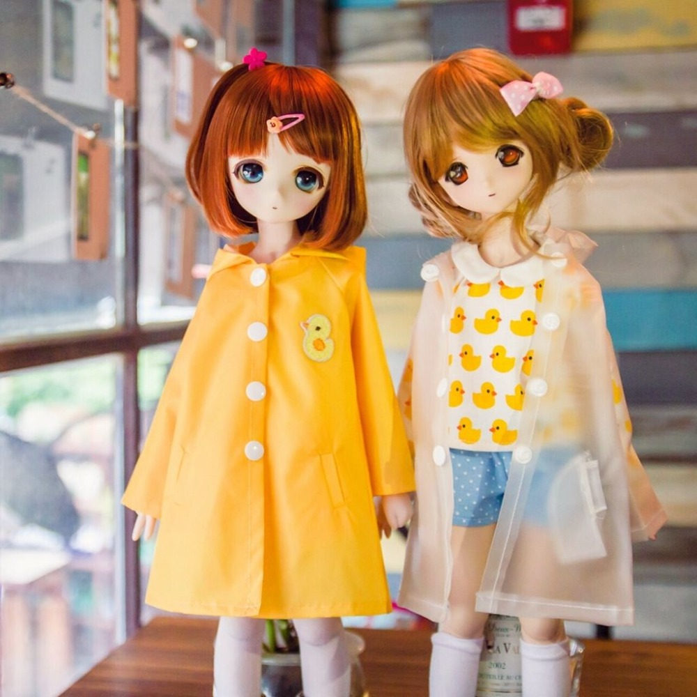 [wamami] Fashion Waterproof Little Duck Yellow Transparent And Raincoat Tight 1/4 MSD 1/3 1/6 SD DZ AOD BJD Dollfie