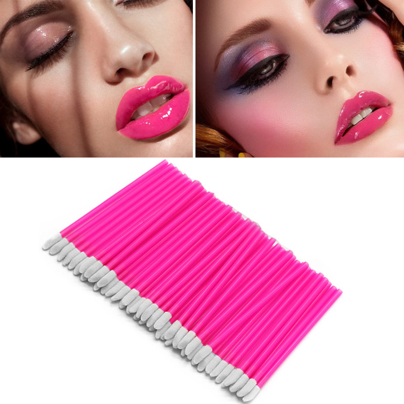Image 4 - Sinso disposable lip brushes for makeup makeup brushes cosmetic lip brush Lipstick gloss wands applicator makeup tool set kits-in Eye Shadow Applicator from Beauty & Health