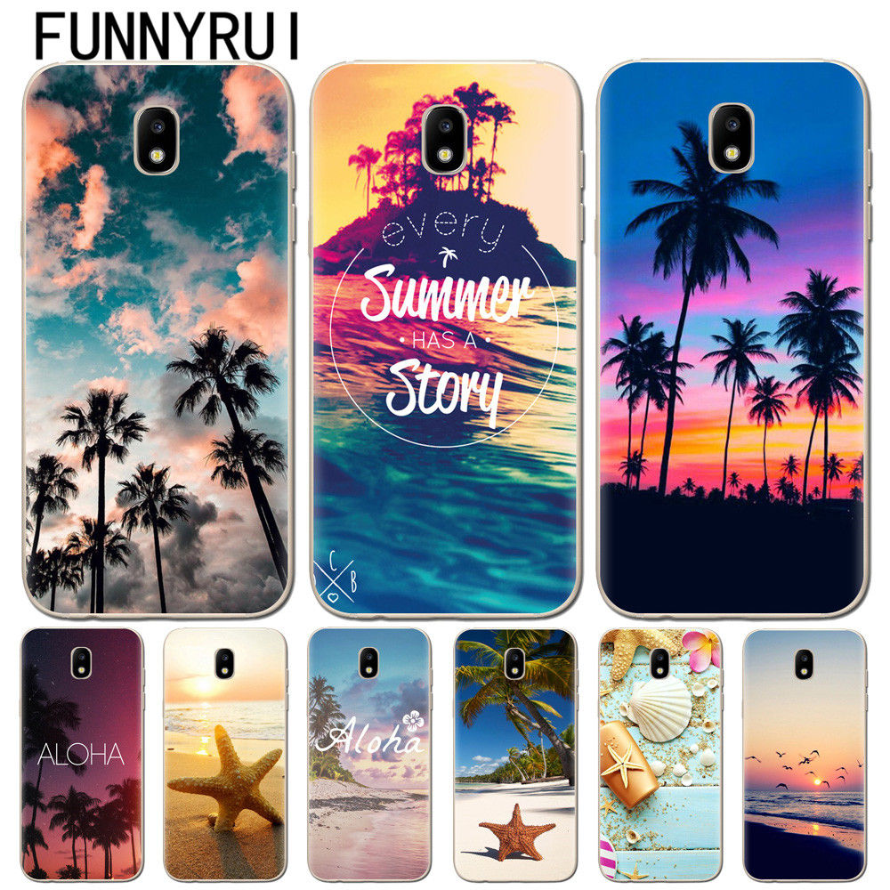 Summer Beach Starfish Soft TPU <font><b>Silicon</b></font> Phone Case For <font><b>Coque</b></font> <font><b>Samsung</b></font> Galaxy A5 J3 J5 J7 2016 2017 A6 A8 J4 <font><b>J6</b></font> <font><b>2018</b></font> Cover Fundas image