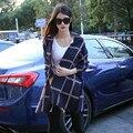 Новая зимняя большой плед двусторонняя кашемир шарф Женщины теплый Негабаритных шарф платок
