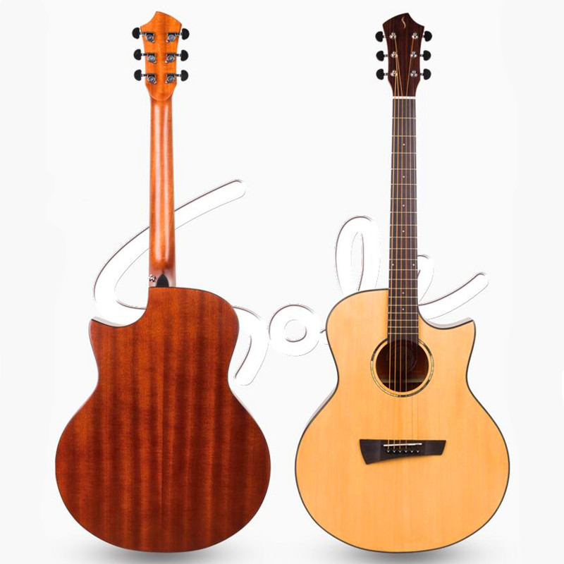 Guitars 40 /41 inch Acoustic Guitar Picea Asperata Body Mahogany Back Side Rosewood Fingerboard Original Guitar StringsGuitars 40 /41 inch Acoustic Guitar Picea Asperata Body Mahogany Back Side Rosewood Fingerboard Original Guitar Strings