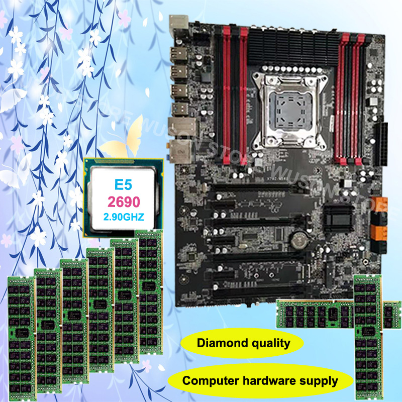 Diamond Quality Runing Super X79 Gaming Motherboard Support Max 8*16G 1866 CPU Xeon E5 2690 C2 2.9GHz RAM 32G(8*4G) DDR3 REG ECC