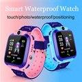 Новинка 2019  водонепроницаемые детские Смарт-часы  детские часы для детей  SOS Вызов  локатор  трекер  анти-потерянный монитор