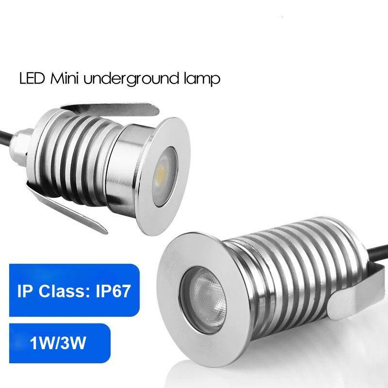 12V IP67 Waterproof Outdoor Led Recessed Deck Floor Light Spot Lamp Spotlight Patio Paver Light Garden