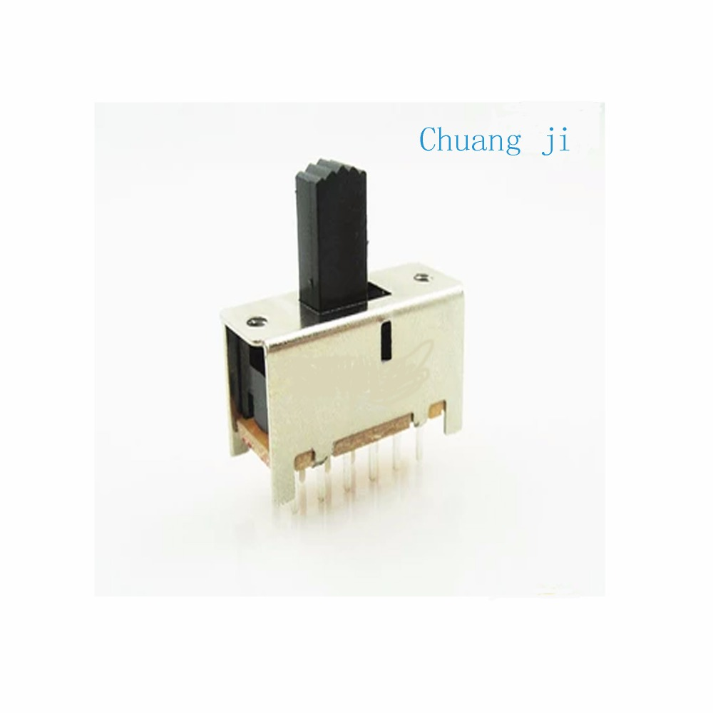 SS-42F01 Toggle switch 12 feet Band 2 Double row Slide switch Sound amplifier switch 4P2T ss-42f01 Handle long 7MM 9MM image