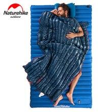 NatureHike Открытый Кемпинг пеший Туризм Путешествия конверт гусиный пух спальный мешок Сверхлегкий хлопок ленивый спальный мешок