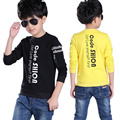 2017 New Fashion Spring Baby Wear Boys Clothes Long Sleeve Children Boys Cartoon Cute T-Shirts Kids Tops 5-13 Years Old