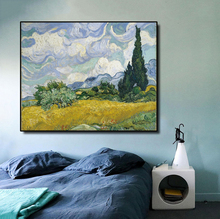 Wheat Field Pine by Van Gogh Canvas Painting Calligraphy Poster Prints Living Room House Wall Decor Art Home Decoration Picture